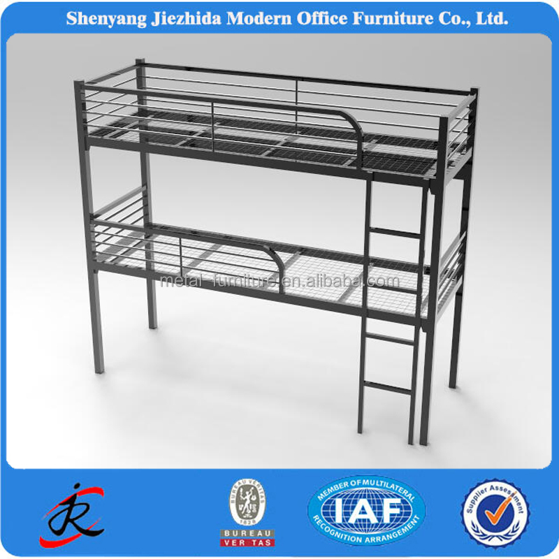 china bed design dormitory army prison hotel iron steel adult cheap metal frame 3 levels children bunk bed