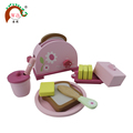 Wooden ELC children's toaster set toy(toaster,bread,butter,jam pot,plate etc)
