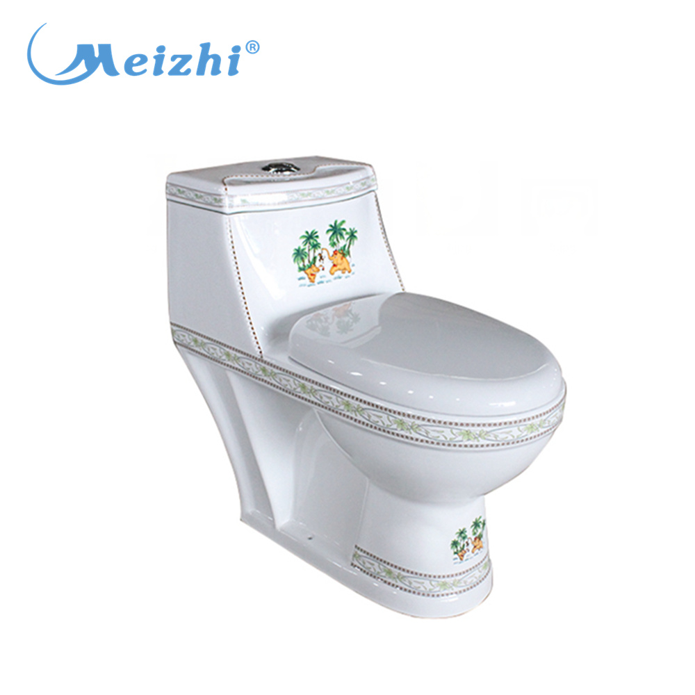 Bathroom one piece washdown p-trap or s-trap toilet ewc