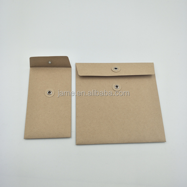 brown kraft paper envelope with string
