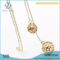 Simple thin gold ball chain dubai necklace jewelry designs