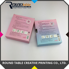 Alibaba Taiwan supplier printing cosmetic box for 6 pack gift set