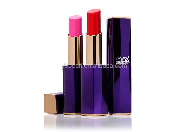 Maxdona purple makeup lipstick custom cosmetics lipstick