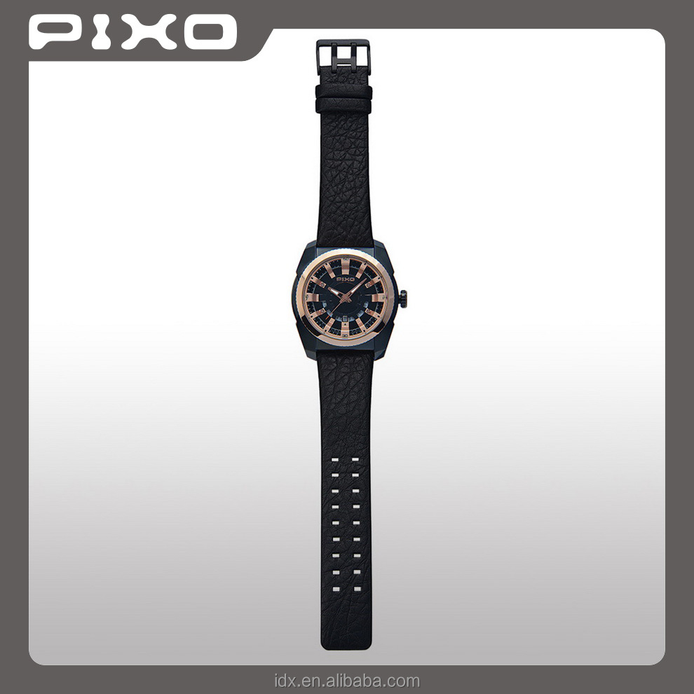 PX-15 OEM and ODM high quality elegance fashion black rosegold sport Vogue wrist watch men stainless steel watch for unisex