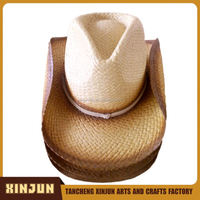 print band fashion paper straw cowboy wholesale hat and scarf sets ,