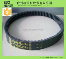 running well motorcycle v-belt