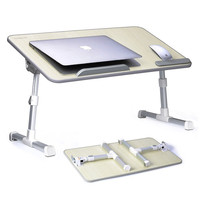 Customized Color Portable Folding Laptop Table Height Adjust Computer Desk Laptop Lap Desk
