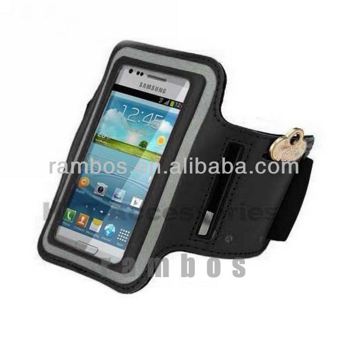 Adjustable Badge Phone Holder Armband Case for Samsung Galaxy Note 2 3