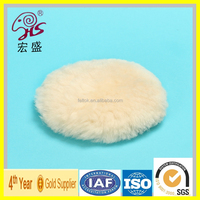 soft nature lamb skin sheep wool polishing pad