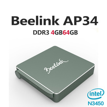 Google Play Store APP Beelink AP34 TV Box Intel N4200 MINI PC Wins 10 and Linux systerm 4G/64GB TV Box for home entertainment