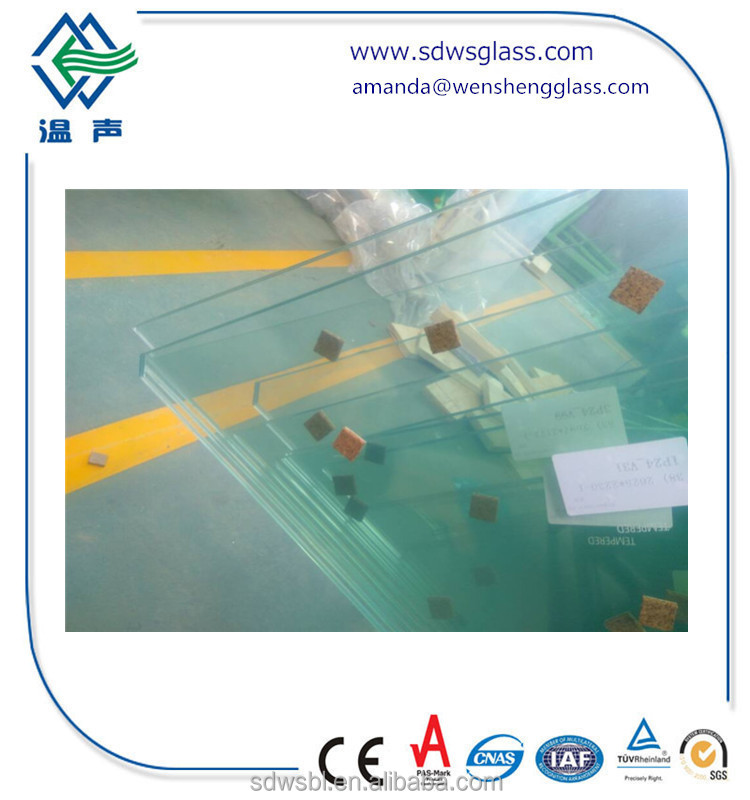 triangle 12mm thick toughened glass price m2 with rough polish