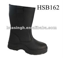 oil resistant steel toe cap leather wholesale coal mine boots black