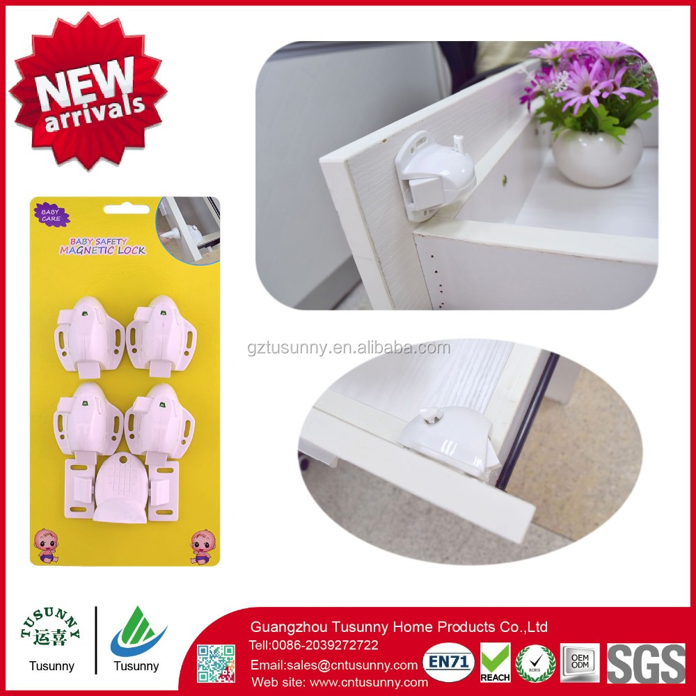 baby safety adhesive hidden magnetic lock small latch lock for cabinets drawers