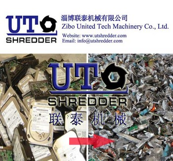 PCB shredder / high capacity with low noise double shaft shredder / E- waste shredder / CD shredder/ hard drives shredder