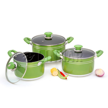 High Quality Two-handle 5.0 Quart Scratch resistant Hard anodized aluminum non-stick Saucepot with cover