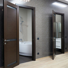 Black color Veneer Solid Core Prefinished Interior Wood Doors