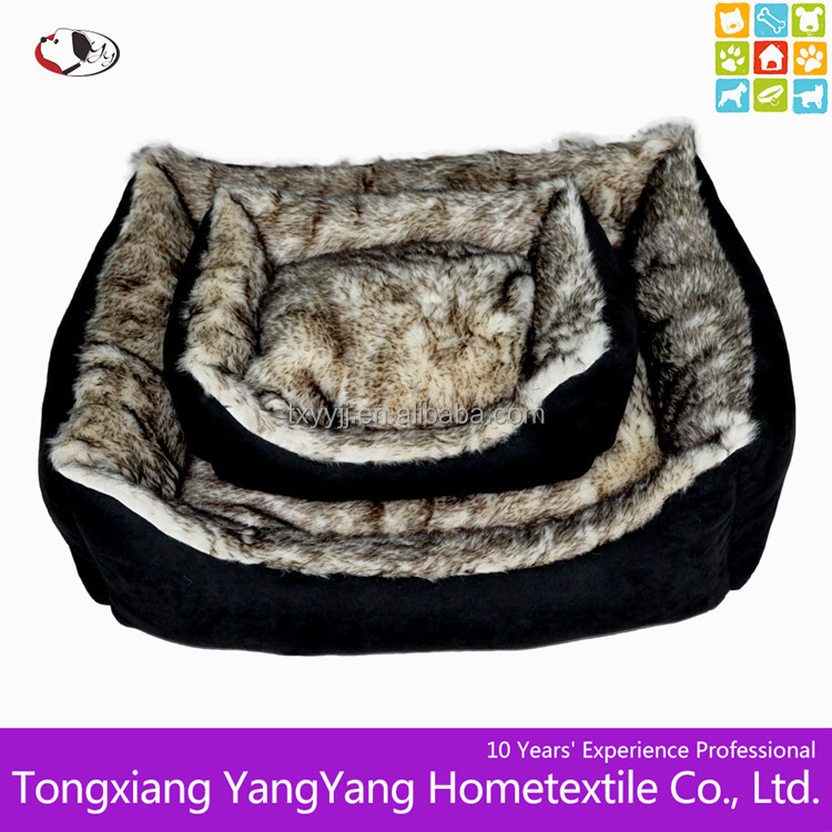 Dog pet bed & Wolf Fur dog beds & Luxury dog bed