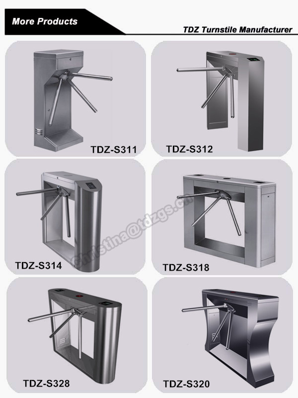 RFID card automatic tripod turnstile gate with id card reader