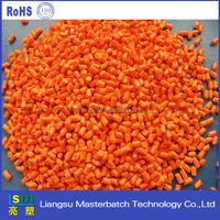 free research chemical sample orange masterbatch for plastic