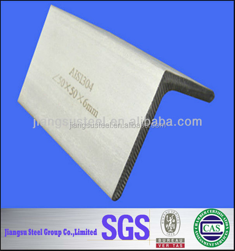 ASTM 201 304 316 309S Stainless Steel equa l angle Bar Welded sandblasting Good quality