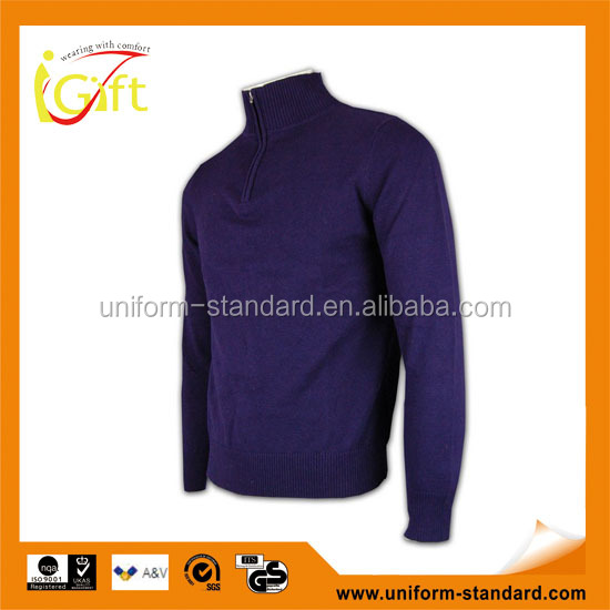 ISO9001/BSCI Manufature good quality high collar mens thick wool sweater