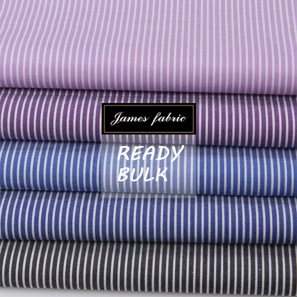 James all year running classical stripe fabrics for men's shirting