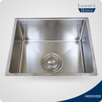 Economy fancy farm single bowl drop in inox kitchen sink