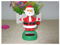 Solar Dancing Santa rocking Solar Bobble head Toy Figure Solar Activated Toy Holiday Collection