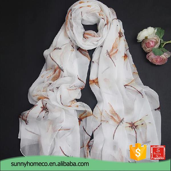 Wholesale fashion white silk scarf for painting