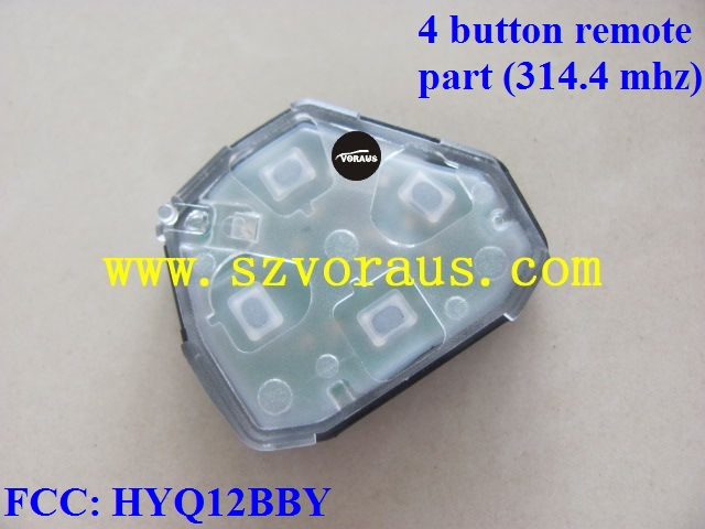To Cam 4 button remote key unit & electronic circuit (314.4 mhz) FCC: HYQ12BBY