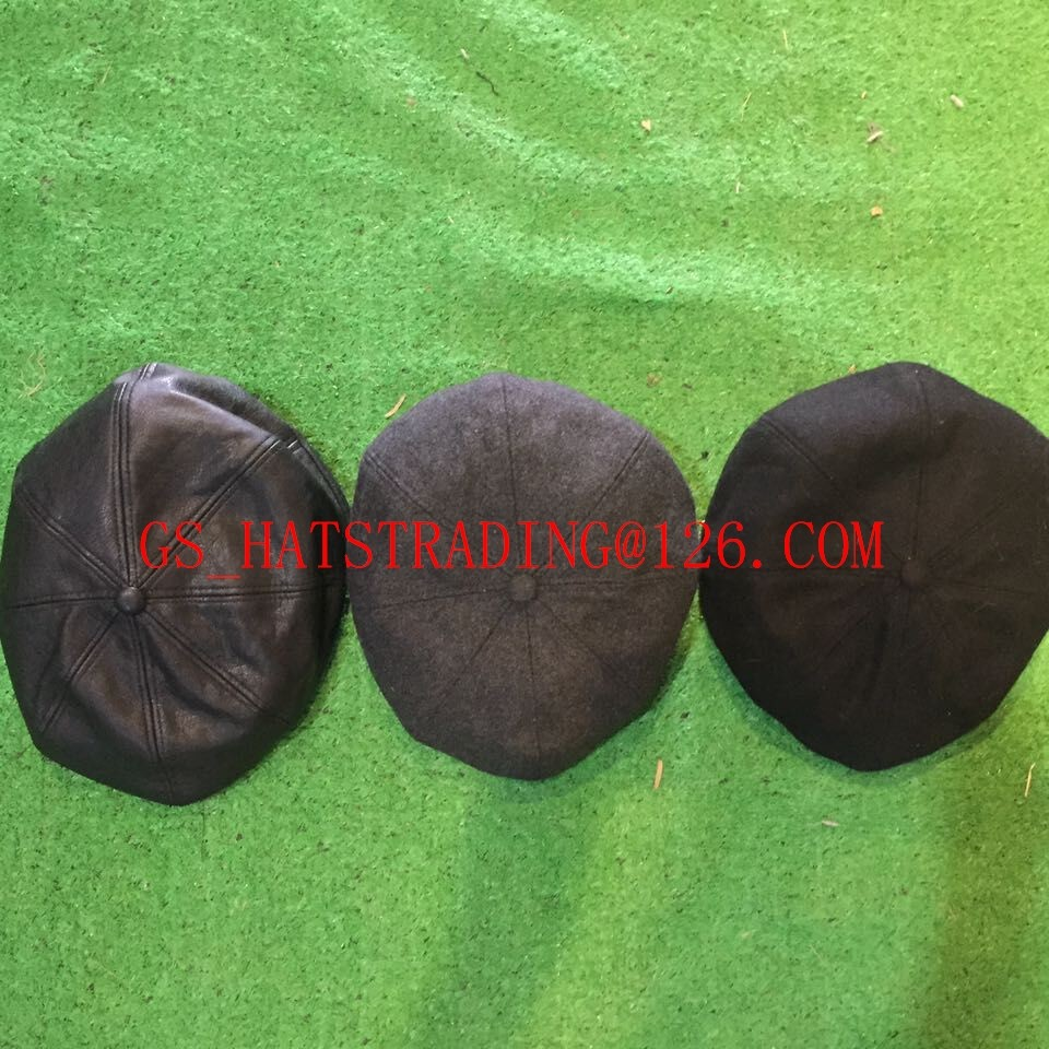 wholesale 8 piece newsboy cap with Elastic belt hats with woven tags
