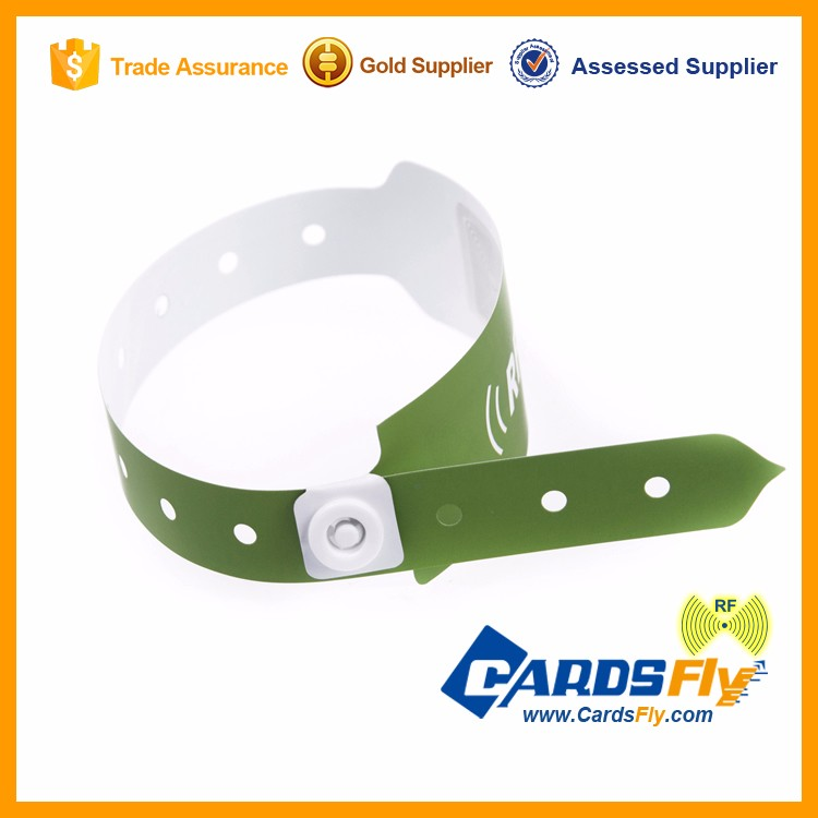 Low Cost Light Disposable RFID Wristband Ticket