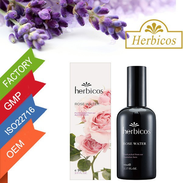 Herbicos Pure Rose Moisturizing face toner with alcohol organic rose water