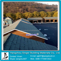 Guangzhou Factory Wholesale Cheap 3 Tab Roofing Asphalt Shingles