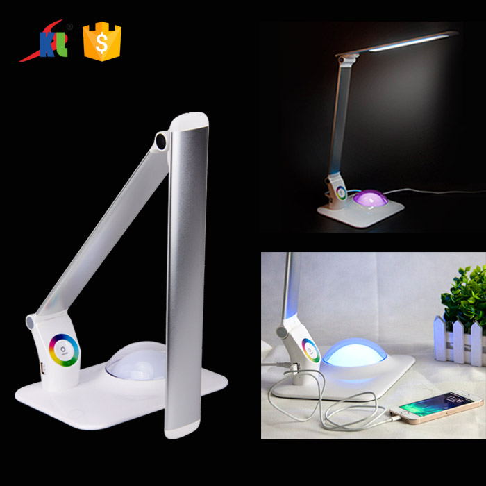 White Bedroom Touch Sensor LED Table Lamp with USB