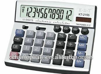 12 digits desk top calculator KT-2155