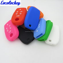 Cocolockey Car Silicone Key Cover flip for TOYOTA Sienna Alphard Previa RAV4 6 button case remote Shell