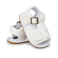 Summer 0-1 years old baby leather shoes non slip kid baby sandals