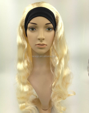 front lace wig with black headband wig hair popular style in european market