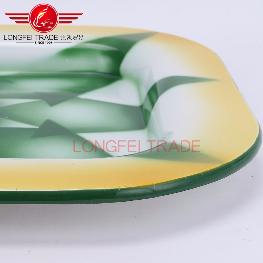 superior spraying decoration square enamel rice bowl/salad plate