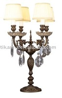 brass antique table lamp