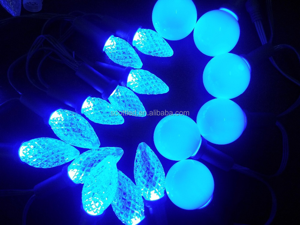 Hot sale programmable C9 WS2811 12V addressable led string christmas holiday decoration C7/G40/D24/G27 lighting