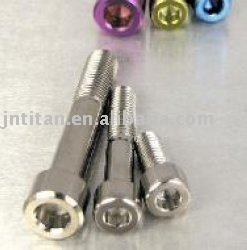 Color titanium cone head bolt
