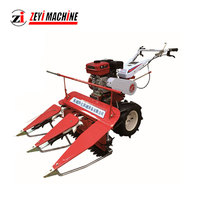 2018 Most Hot Selling and Good Working Self Walking rice reaper / mini rice harvester / wheat reaper
