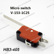 elevator limit switch 3PINS reset micro limit switch V-153-1C25 with long handle lift limit switch 16A