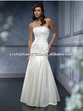 SJ1060 white new design high quality taffeta wedding dress