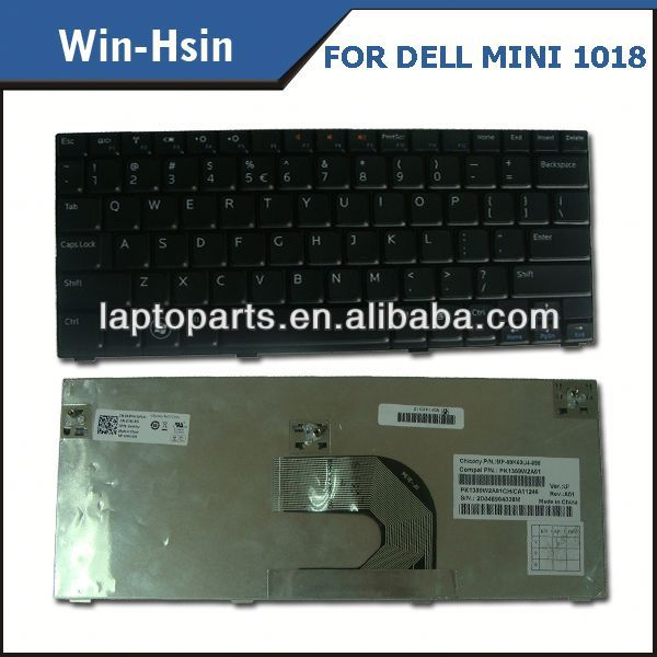 Wholesale lots Laptop Keyboard for DELL Inspiron MINI12 MINI1210 keyboard