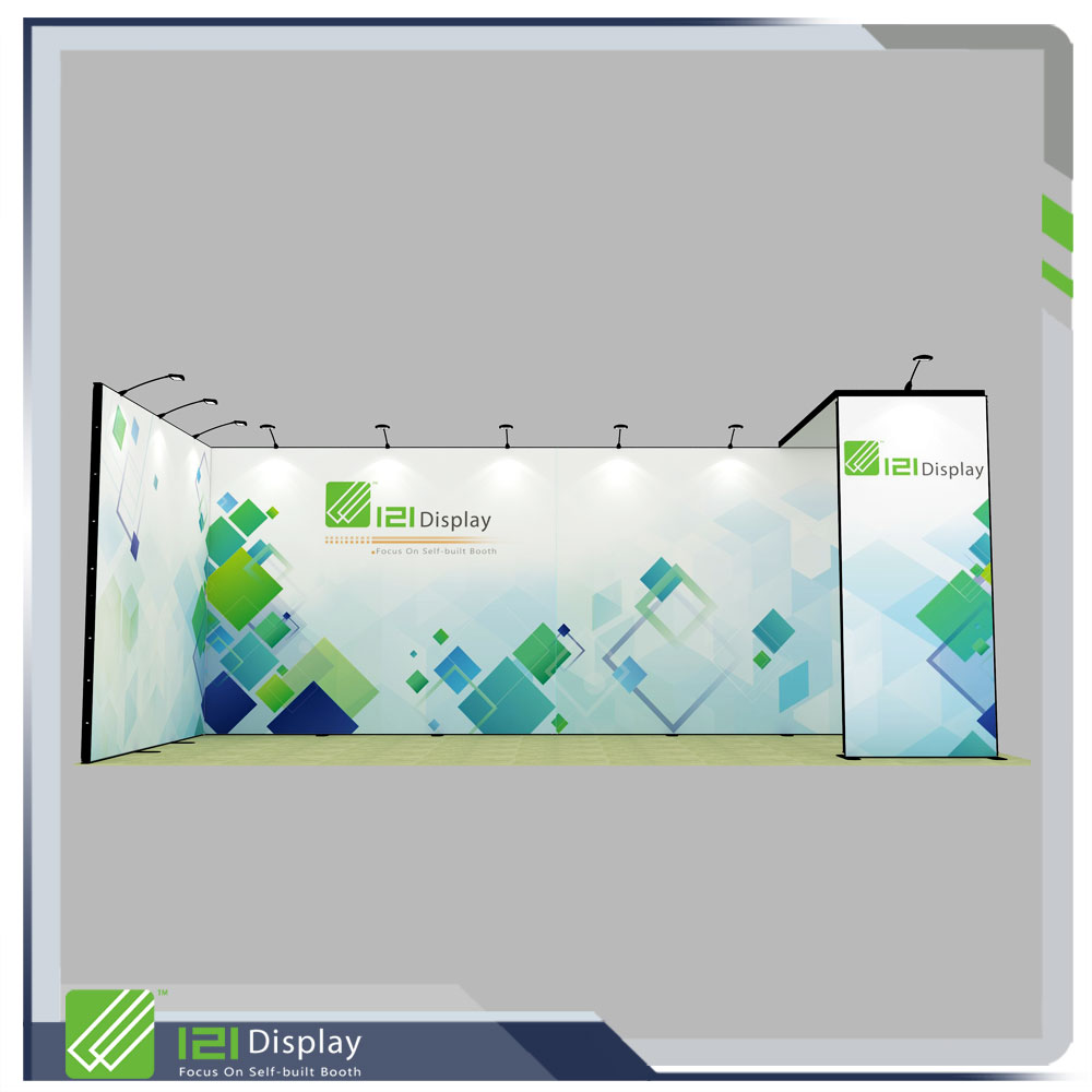 10X30 aluminum modular exhibition booth with graphic