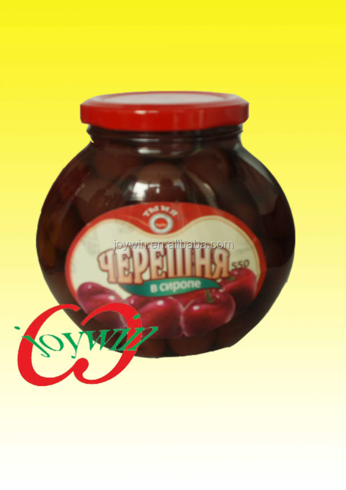 Canned cherry fresh fruit in syrup 580ml in Jar