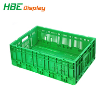 Popular Agriculture Collapsible Stackable Fruit Plastic Crate